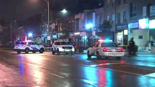 Police are investigating a deadly shooting near Danforth and Langford avenues in Toronto.