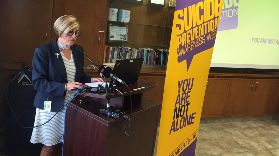 Suicide Prevention Awareness Campaign kicks off at the Canadian Mental Health Association Windsor-Essex County Branch in Windsor, Ont., on Wednesday, Aug. 22, 2018. (Sacha Long / CTV Windsor)