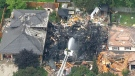 The CTV News chopper captures the devastating aftermath of a house explosion in Kitchener, Ont., Wednesday, Aug. 22, 2018.
