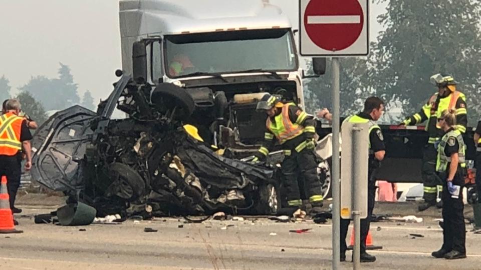 abbotsford semi-truck crash