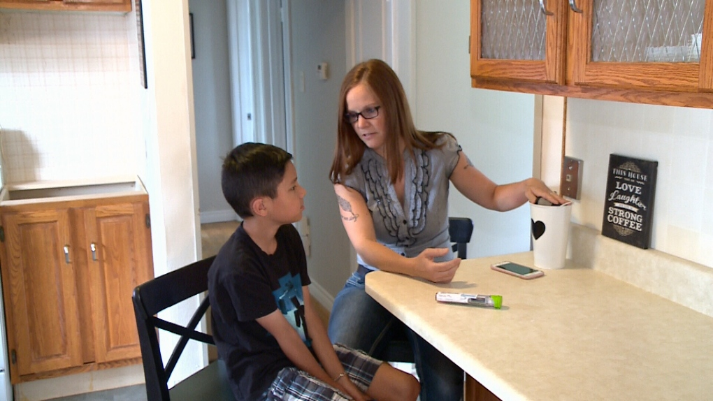 Michelle Nel with 10-year-old Nolan.