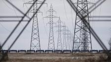 Manitoba Hydro power lines
