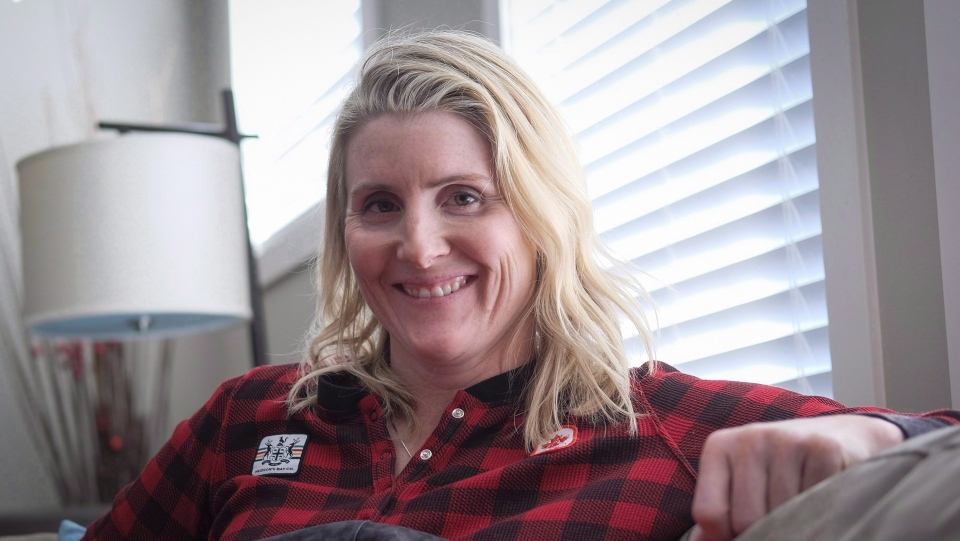 Four time Olympic gold medalist Hayley Wickenheiser poses for a portrait in Calgary, Alta., Wednesday, Jan. 11, 2017. THE CANADIAN PRESS/Jeff McIntosh