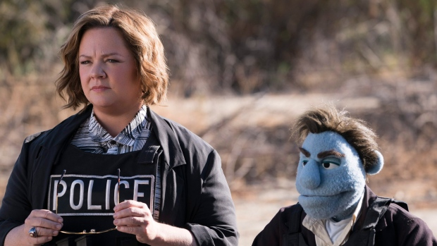 """This image released by STX Entertainment shows Melissa McCarthy in a scene from """"The Happytime Murders."""" (Hopper Stone/STX Entertainment via AP)"""