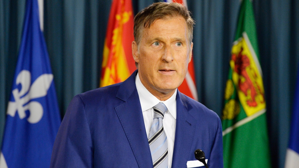 Quebec MP Maxime Bernier speaks at a press conference in Ottawa on Thursday, Aug. 23, 2018. (THE CANADIAN PRESS/Adrian Wyld)
