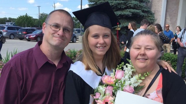 Tammy Rosko, pictured at right with family, died after a collision on the south Perimeter Highway. (Supplied photo.)