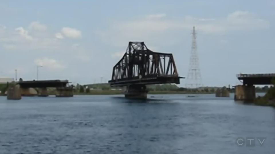 Swing bridge on Manitoulin Island