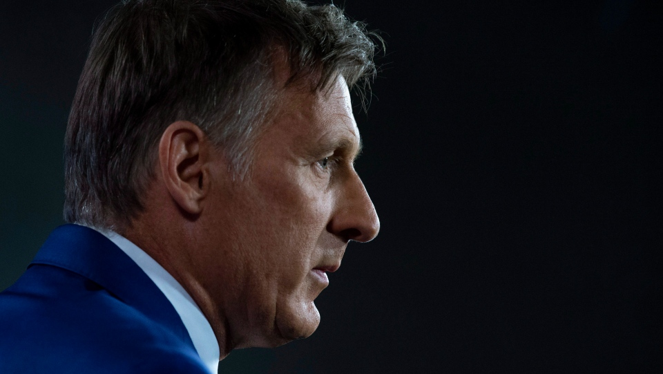 Maxime Bernier during a news conference in Ottawa, Thursday Aug. 23, 2018. (Adrian Wyld / THE CANADIAN PRESS)