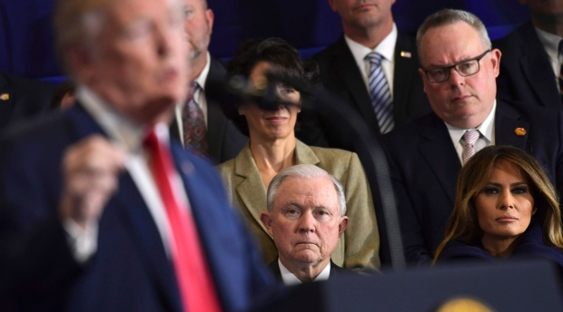 Trump hits Sessions over indictments of GOP congressmen