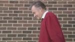 David Norton, 69, leaves police headquarters in London, Ont. on Friday, Nov. 20, 2015. (Joel Merritt / CTV London)