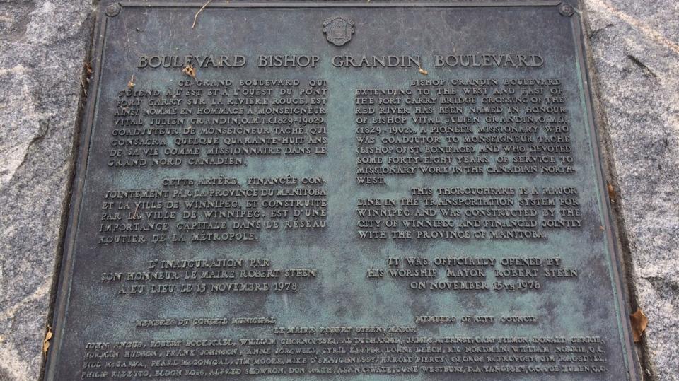 Bishop Grandin Plaque