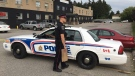 Police are investigating a shooting at Golddiggers Adult Night Club on Saturday, Aug. 25, 2018. (Brent Lale / CTV London)