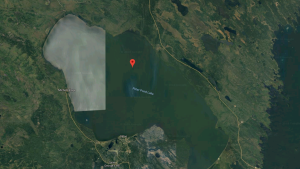 Peter pond lake is seen in this image from Google Maps. (Google Maps)