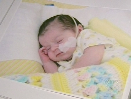 Baby Lillian O'Connor continues to wait for a heart transplant at the Hospital for Sick Children in Toronto.