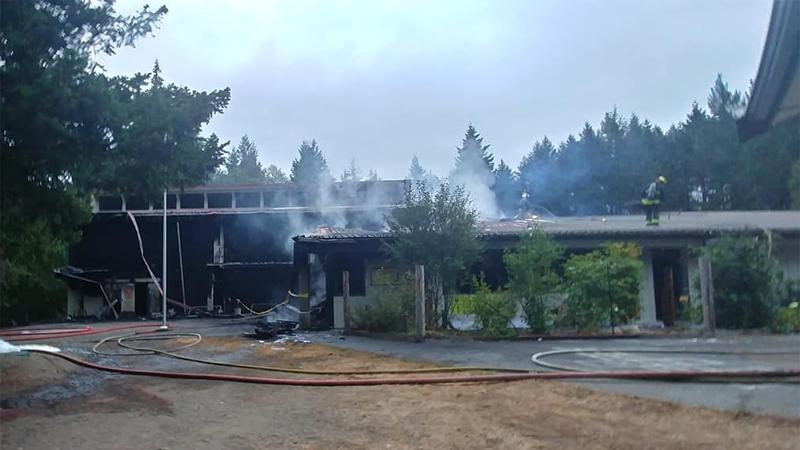 Hornby Island Community School fire