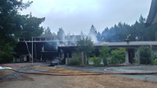 Hornby Island Community School fire