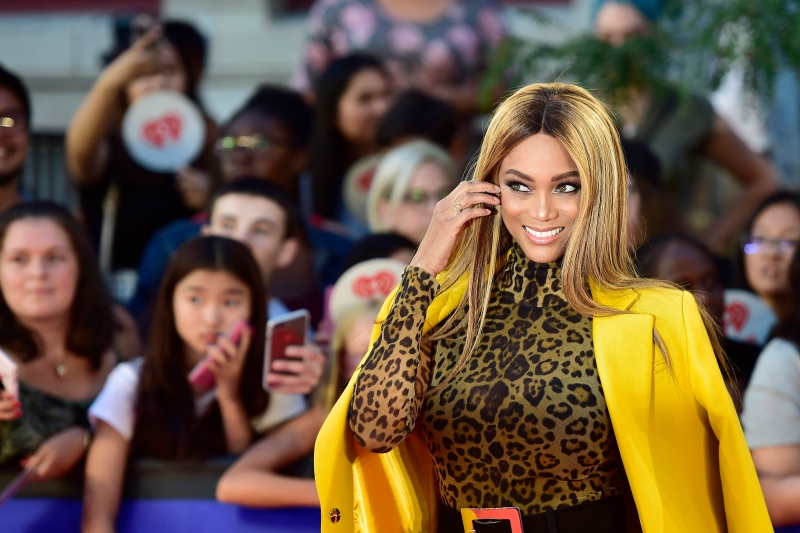 Tyra Banks arrives on the red carpet at the iHeartRadio MMVAs in Toronto on Sunday, Aug. 26, 2018. THE CANADIAN PRESS/Frank Gunn