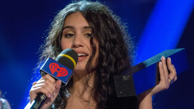 Alessia Cara speaks after being presented with the MMVA for Video of the Year at the iHeartRadio MMVAs in Toronto on Sunday, Aug. 26, 2018. (THE CANADIAN PRESS/Christopher Katsarov)