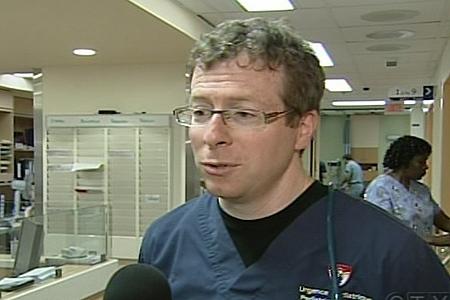 Dr. Harley Eisman, ER director at the Montreal Children's Hospital, says they have seen a big jump in the number of visits to the ER over the past few weeks. (June 25, 2009)