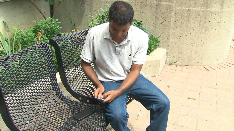 Theodros Assefa recently had his cell phone stolen from a public charging station.