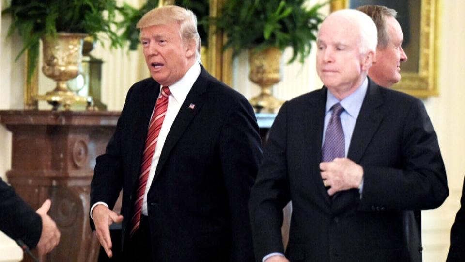 'No love lost between McCain and Trump'