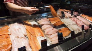 A seafood counter is shown at a store in Toronto on Thursday, May 3, 2018. THE CANADIAN PRESS/Nathan Denette