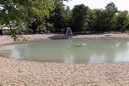 The boy drowned in this man-made lake at a nature park, Bois des Belle-Riviere. (June 25, 2009)