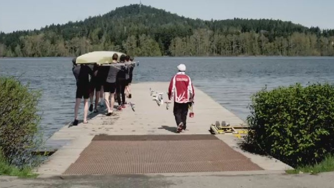 Rowing Canada has operated training programs at Elk Lake for years, but is considering moving to a new community. (YouTube/Rowing Canada)