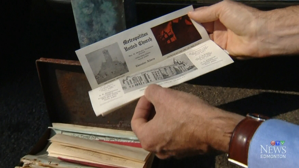 Time capsules dating to 1907 and 1942 were found during demolition of Knox Metropolitan United Church in Edmonton.