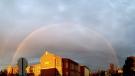 Amazing double rainbow in Dauphin, Manitoba. Photo by Ashley Ryan Houle.