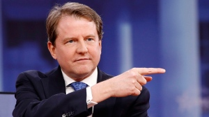 White House counsel Don McGahn gestures while speaking at the Conservative Political Action Conference (CPAC), at National Harbor, Md., Thursday, Feb. 22, 2018. (AP / Jacquelyn Martin)