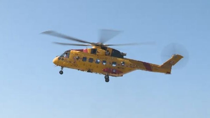 The Joint Rescue Coordination Centre in Halifax dispatched a Cormorant helicopter from 14 Wing Greenwood to join in the search.