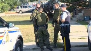 Manitoba RCMP say they are seeking a fourth suspect after a 'serious incident.'