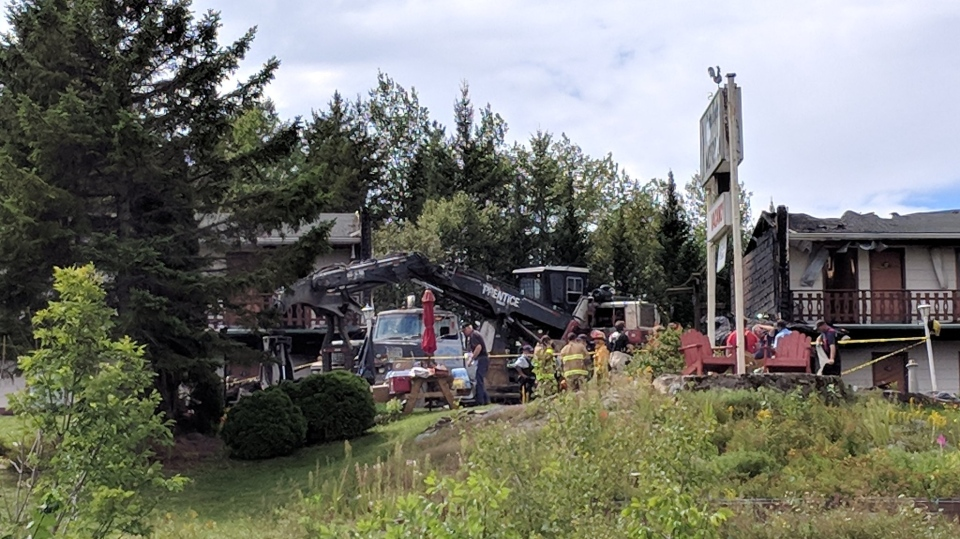 One person is dead after a fire broke out at the John Gyles Music Room and Inn in Hay Settlement, N.B. (Laura Lyall/CTV Atlantic)