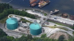 An aerial view of Kinder Morgan's Trans Mountainmarine terminal, in Burnaby, B.C., is shown on Tuesday, May 29, 2018. The federal Liberal government is spending $4.5 billion to buy TransMountain and all of Kinder Morgan Canada's core assets, Finance Minister Bill Morneau said Tuesday as he unveiled the government's long-awaited, big-budget strategy to save the plan to expand the oilsands pipeline.THE CANADIAN PRESS Jonathan Hayward