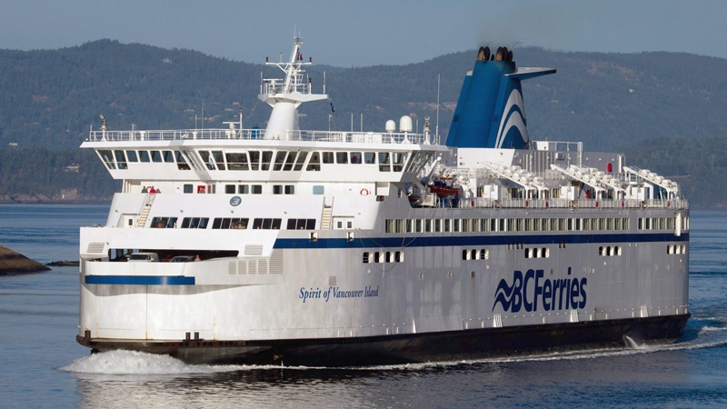 BC Ferries vessel Spirit of Vancouver Island passes between Galiano Island and Mayne Island while traveling from Swartz Bay to Tsawwassen, B.C., on Friday Aug. 26, 2011. (Darryl Dyck / THE CANADIAN PRESS)