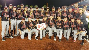 Canada won bronze at the 2018 women's baseball World Cup. (Baseball Canada / Twitter)