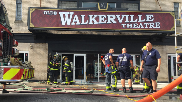 Fire at Olde Walkerville Theatre