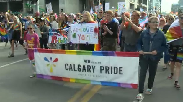 Thousands of people participated in the 28th Annual Pride Parade on 6 Avenue S.W. on Sunday.