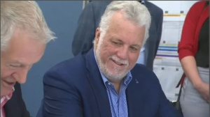 Philippe Couillard announces candidacy in Roberval