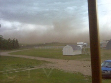 Photo of the storm near the Tornado east of Provost in Czar.  Supplied by Jodi M.