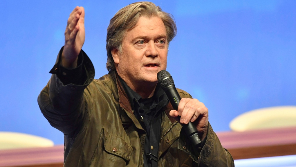 Former Trump adviser Steve Bannon arrested and charged with fraud in US