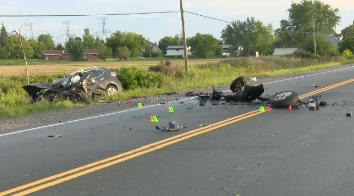 Police say one person is dead following a collision in Haldimand County on Monday.