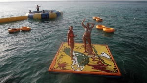 Tourists having fun on the sea in Montego Bay, Jamaica in this September 2007 file photo. Montego Bay is part of St. James parish, which has been under a state of emergency since January. (THE CANADIAN PRESS / Joe Bryksa)