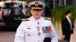Vice-Admiral Mark Norman arrives at the courthouse in Ottawa on Tuesday, September 4, 2018. THE CANADIAN PRESS/Adrian Wyld