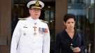 Vice-Admiral Mark Norman leaves court with his lawyer Marie Henein following a hearing in Ottawa, Tuesday September 4, 2018. THE CANADIAN PRESS/Adrian Wyld