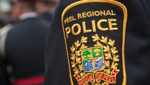 Peel Regional Police badge. (The Canadian Press Images/Francis Vachon)