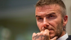In this Thursday, July 12, 2018 file photo David Beckham listens during a public hearing for his proposed Major League Soccer stadium and commercial development at City Hall in Miami. (AP Photo/Wilfredo Lee)