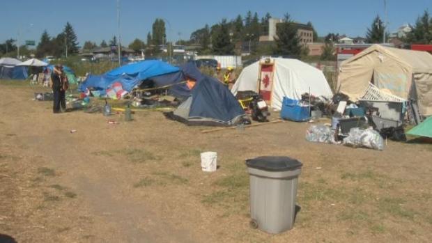 tent city fire