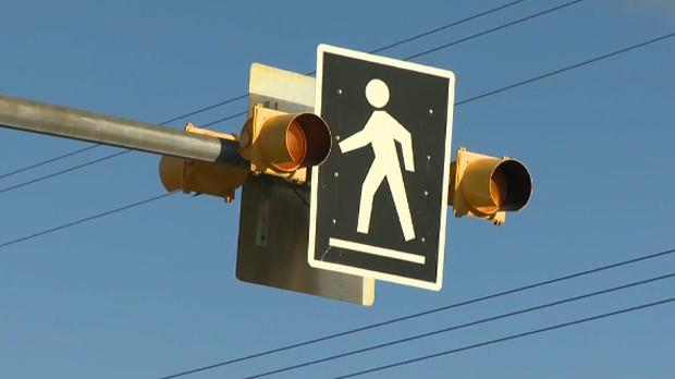 Crosswalk in Calgary